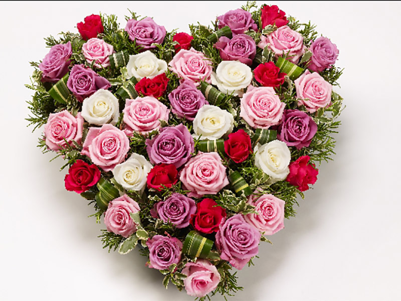 Large loose rose pink and cream heart make my day flowers mightylinksfo