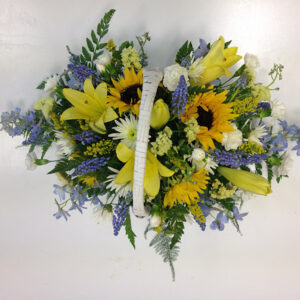 Spring Time Floral Basket Arrangement