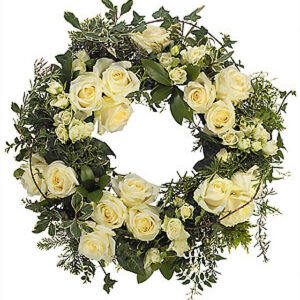 14 inch Grouped White Wreath