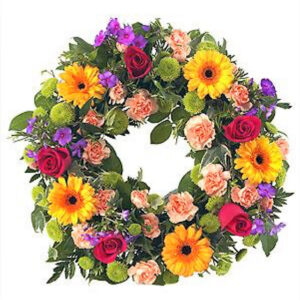 14 inch mixed coloured Wreath