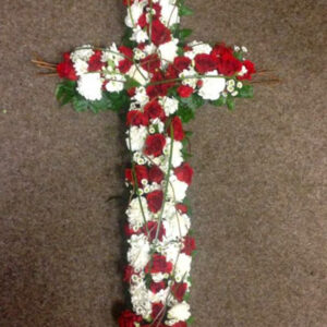 Loose 3ft Red and White Cross