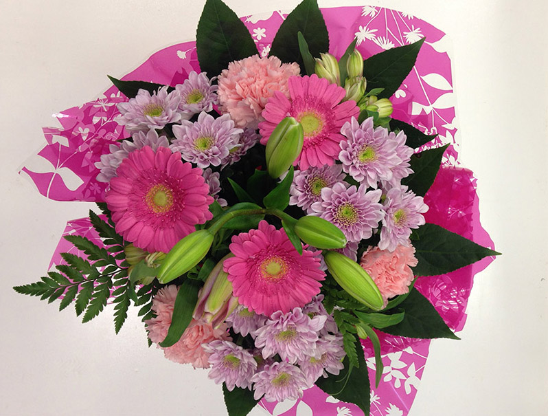 Pink Haze Hand Tied Bouquet