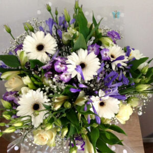 Sapphire Blue Hand Tied Bouquet