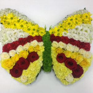 Butterfly arrangement funeral flowers